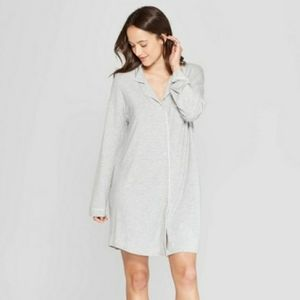 NWT Stars Above Soft LS Nightgown Gray